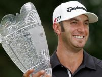 Dustin Johnson Up to No. 4 After Irene-Shortened Barclays Win