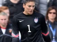 American female soccer star Hope Solo in trouble again