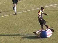 Soccer player charged with attempted manslaughter after booting opponent