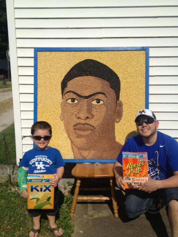 Anthony Davis cereal art